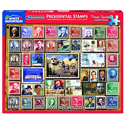 White Mountain Puzzles Presidential Stamps - 1000 Piece Jigsaw Puzzle: Toys & Games
