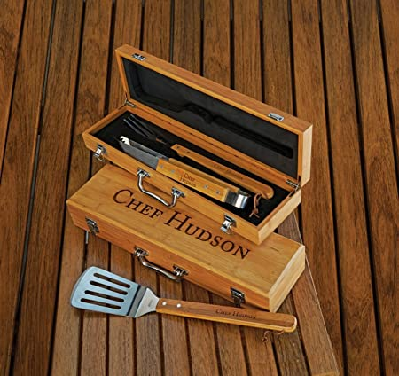 Personalized Bamboo Grilling Set – 3374