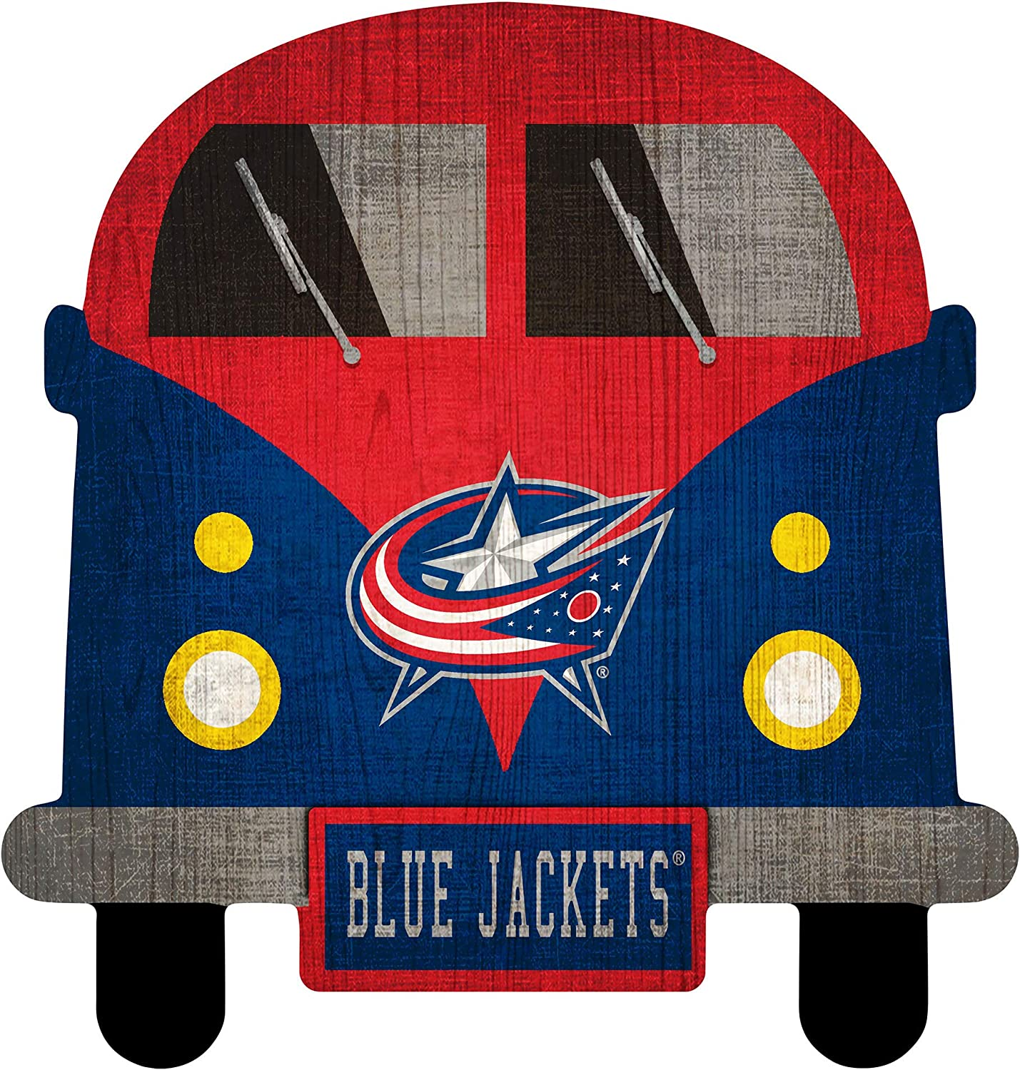 NHL Columbus Blue Jackets Unisex Blue Jackets Team Bus Sign, Team Color, 12 inch