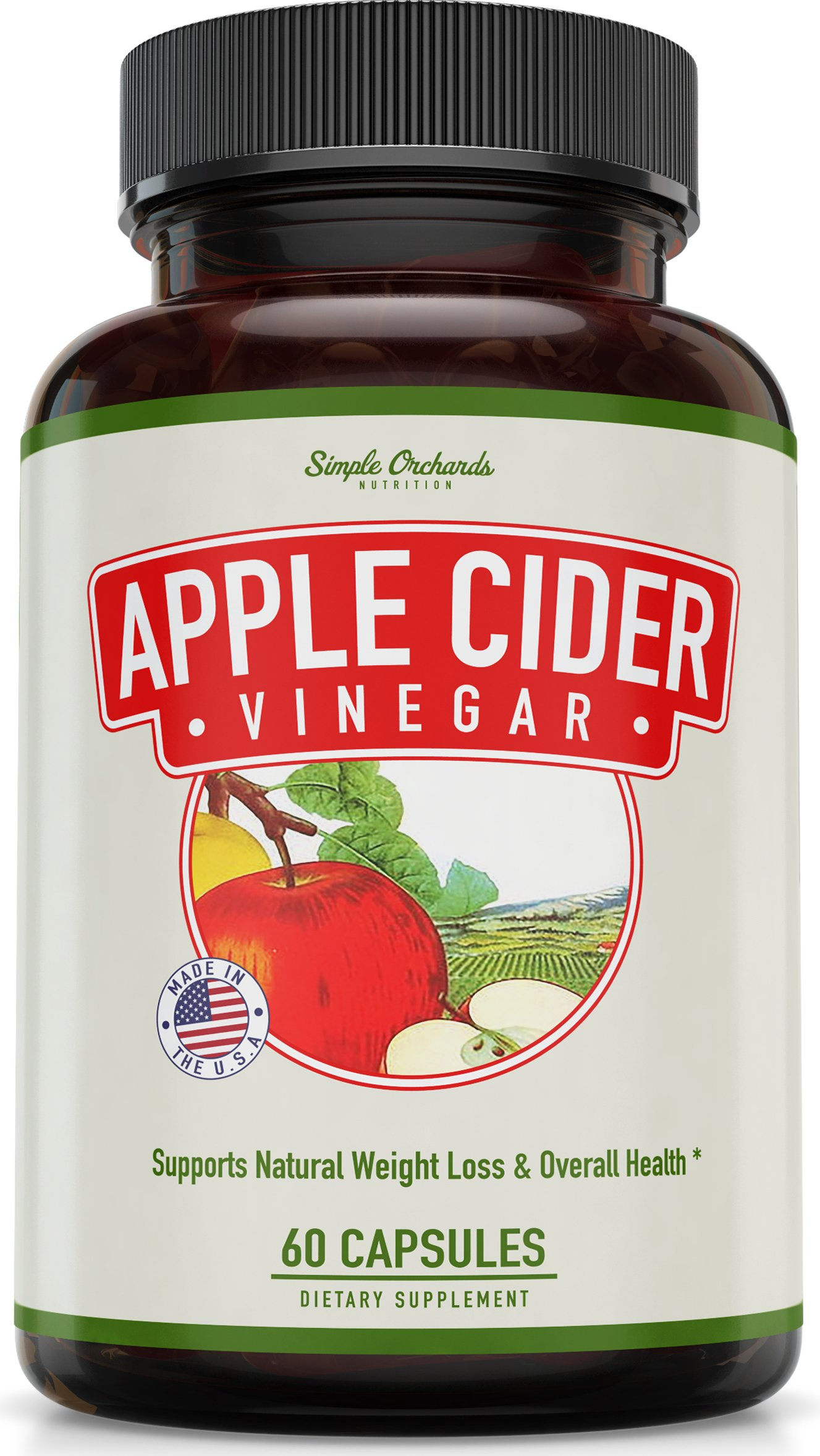 Apple Cider Vinegar Pills for Natural Weight Loss - Extra Strength Capsules - Control Your Appetite and Boost Energy Levels, Perfect Thermogenic Fat Burner, Enhances All Diets