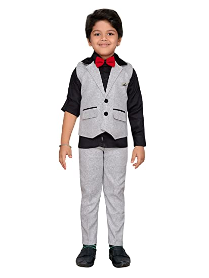 ff6b79d436 AJ Dezines kids waistcoat suit set for boys