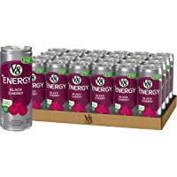 V8 +Energy, Healthy Energy Drink, Natural Energy from Tea, Black Cherry, 8 Ounce Can (Pack of 24)