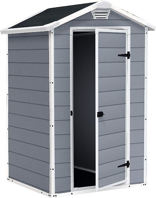 Keter Escher S 1457 0043 Garden shed - Cobertizos de jardín (Plastic shed, Solo, Negro, Gris, Polipropileno): Amazon.es: Jardín