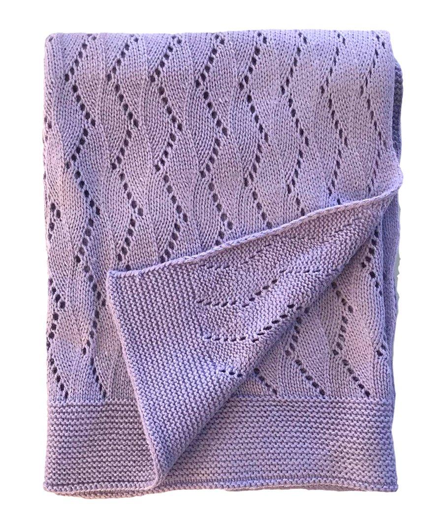 effe bebe Ravelry Knitted Baby Blanket 30''x40'' (Lavendar)