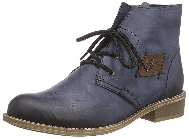 Rieker 72740, Damen Halbschaft Stiefel, Blau (ozean/mogano/14), 42 EU (8 Damen UK)