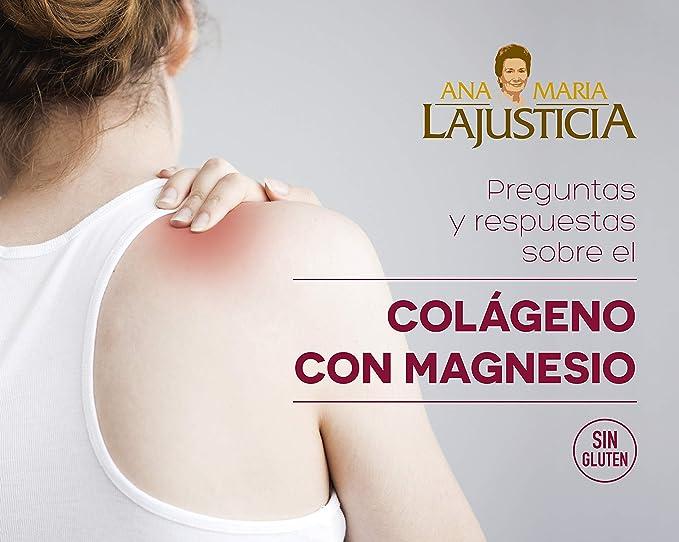 Ana Maria Lajusticia - Colágeno con magnesio – 20 sticks de 5g (sabor fresa) articulaciones fuertes y piel tersa. Regenerador de tejidos con colágeno ...