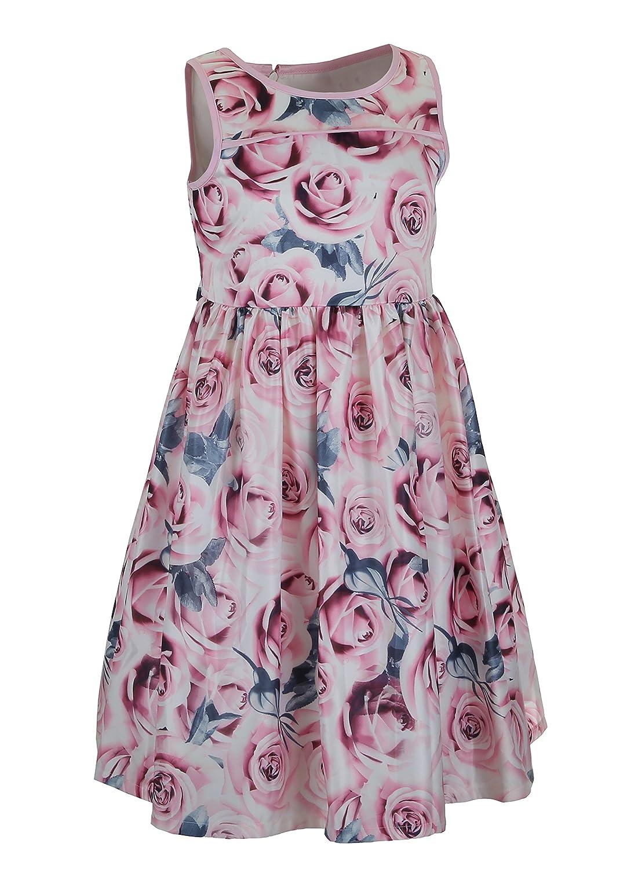 Emma Riley Girls Polka Dot Sleeveless Swing Party Dresses for Wedding
