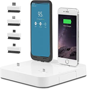 Phone Docking USB Charging Station: Desktop Organizer Charger Stand - Charges Multiple Devices Including Apple iPhone & iPad or Android Phones & Tablets - 6 Dock Station with Multi Port USB Power Hub