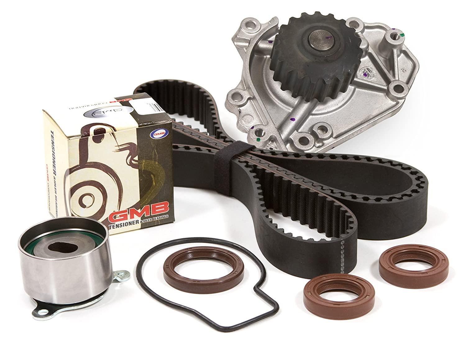 Evergreen TBK184WPT Timing Belt Kit, and Water Pump: 96-01 Honda Acura B18B1 B20B4 B20Z2 Evergreen Parts And Components