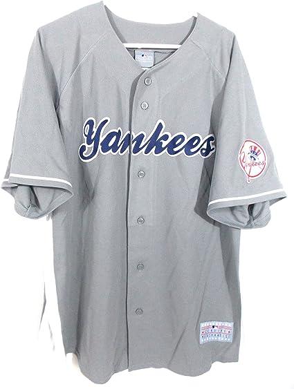 construction rationnelle nouvelles variétés haut de gamme authentique New York Yankees - Maillot chemise MLB Baseball brode Jersey ...