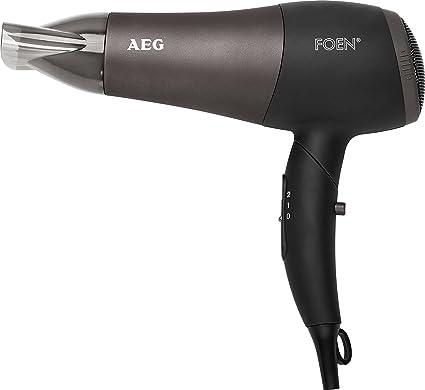 AEG HTD 5649 - Secador de pelo profesional iónico con difusor, 2 niveles de temperatura