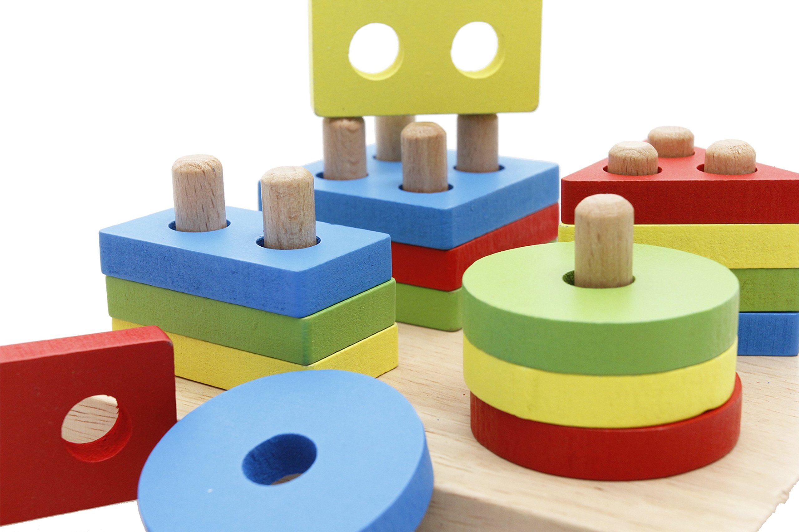 Preschool Toys Product : Galleon lewo wooden puzzle toddler toys shapes sorter