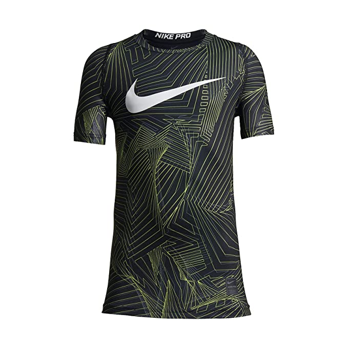 af8e04fbbfce6 Nike Boys' Pro Fitted HBR Short Sleeve Shirt