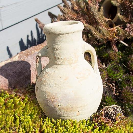 Ánfora con asa como dispensador de agua para jardín y plantas de balcón./ Jardín Decoración de terracota (H 22 cm): Amazon.es: Jardín