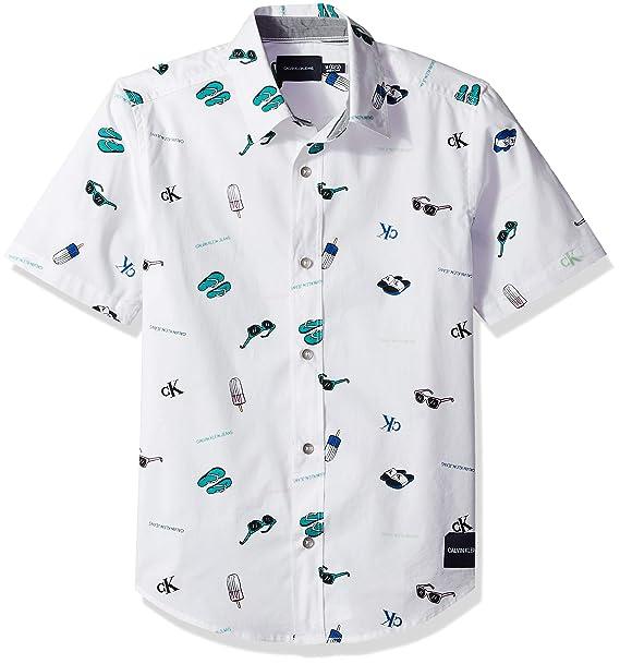 Amazon.com: Calvin Klein - Camiseta de manga corta para niño ...