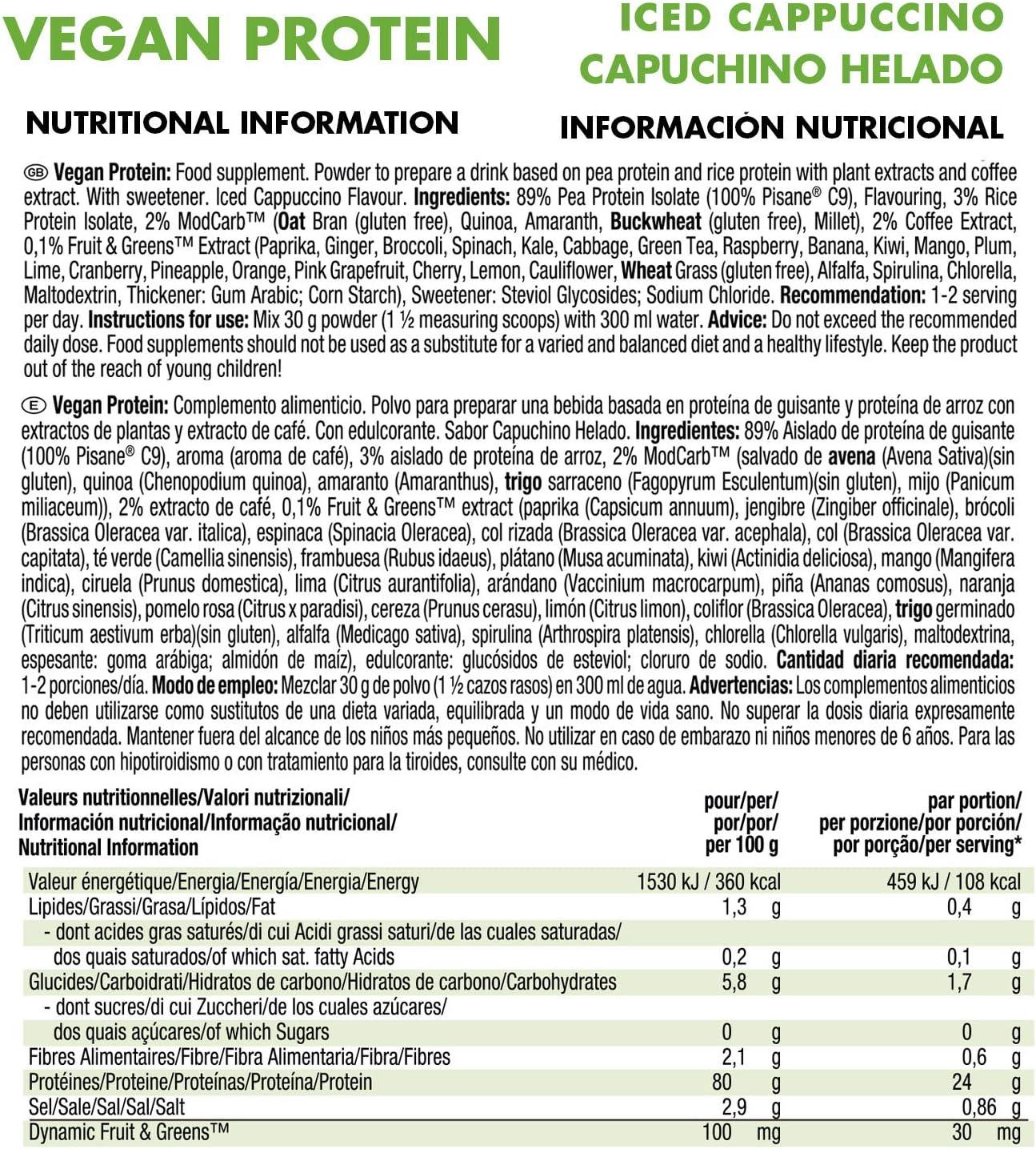 Weider Vegan Protein, Pack multisabor en sobres, Proteína 100 ...