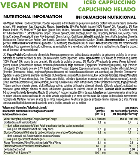 Weider Vegan Protein, Pack multisabor en sobres, Proteína 100% vegetal de guisante (PISANE) y arroz, Sin gluten, Sin lactosa, Sin aceite de palma (18 ...