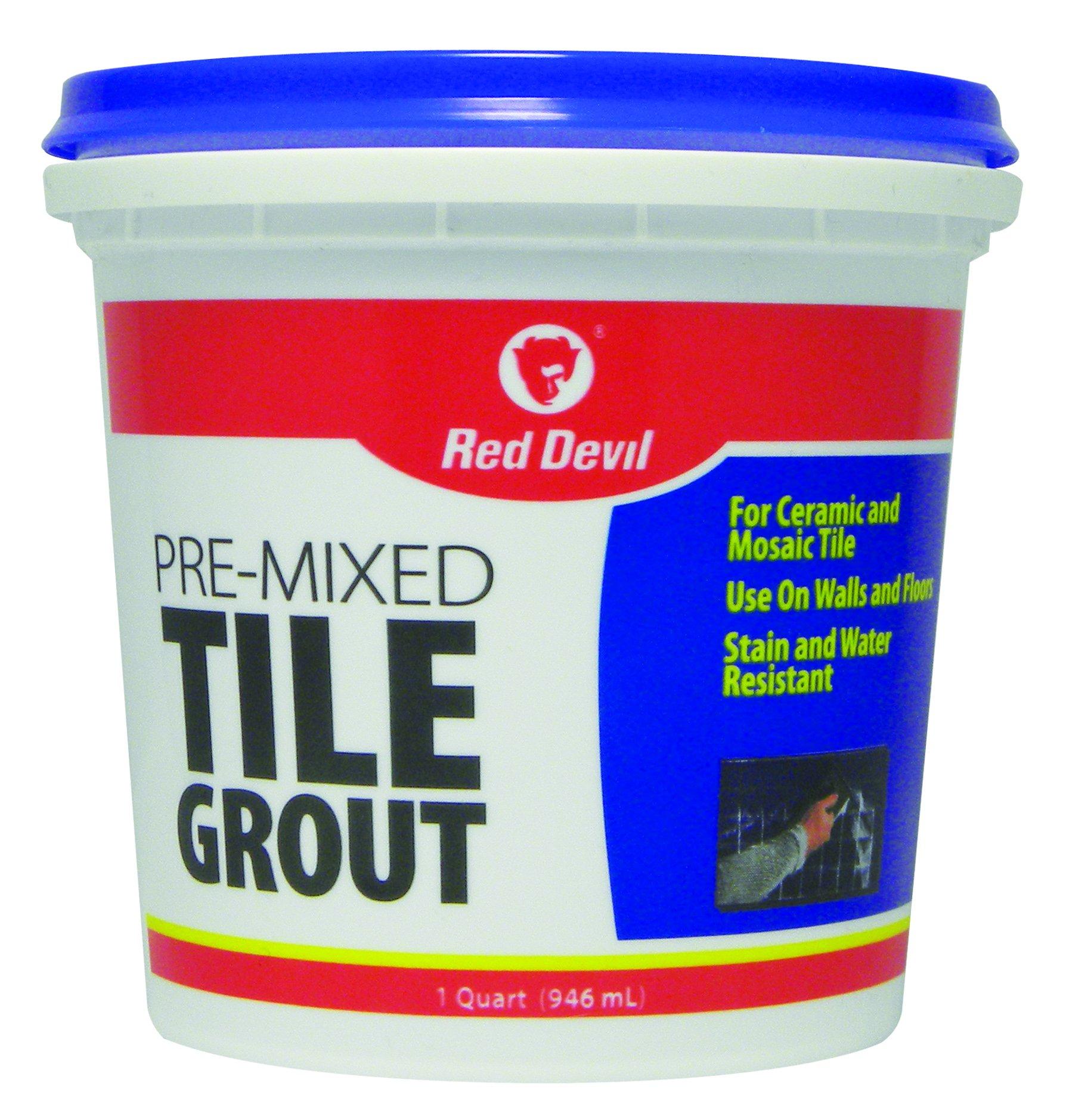 Red Devil 0424 1-Quart Pre-Mixed White Tile Grout