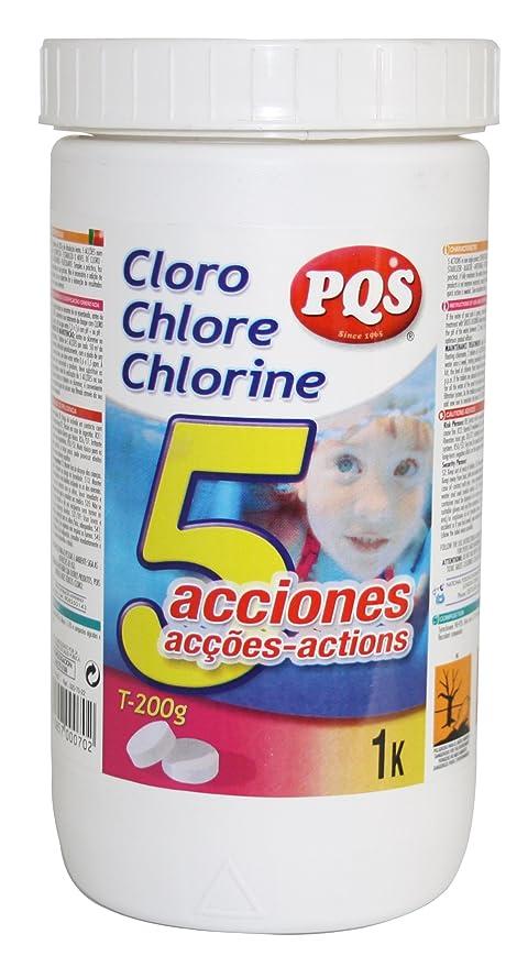 PQS Cloro 5 acciones Piscina. Bote 1 kg