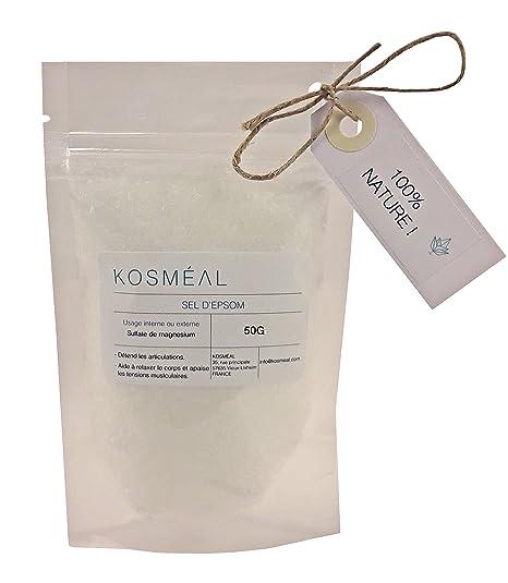 Sal de Epsom, sulfato de magnesio (50g)