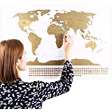 Scratchable World Map with Flags / Personalized Travel Tracker Poster / Remember and Share Your Adventures / Unique Design by ENNO VATTI (Original)
