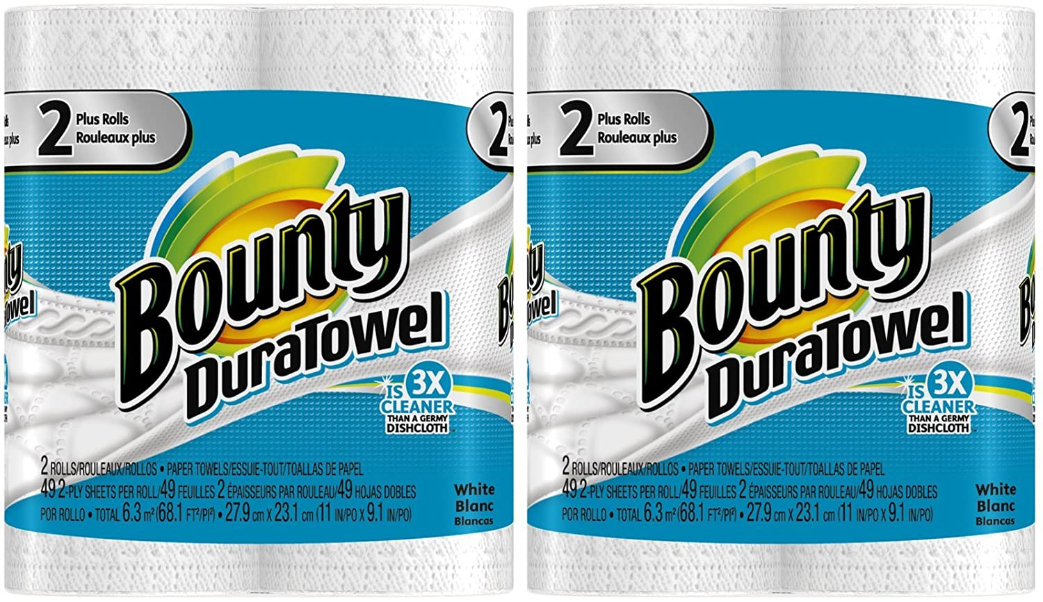 Amazon.com: Bounty DuraTowel Paper Towels, King Roll - 4 pk: Health & Personal Care