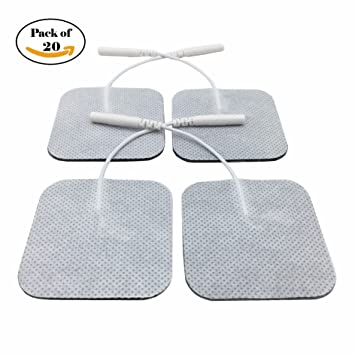 Electrode Pads for TENS Unit, Self-Adhesive and Reusable Electrodes TENS Pads for TENS