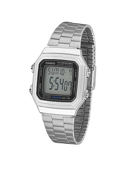CASIO 19338 A-179WA-1A - Reloj Caballero digital brazalete metálico: Amazon.es: Relojes