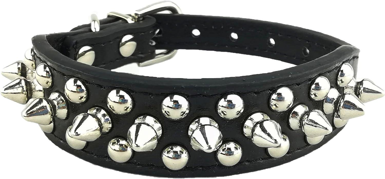 Newtensina Elegante Collar de Perro Punk Collar de Perro Tachuelas Collar de Perro para Perros