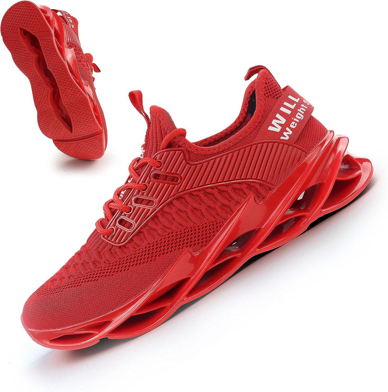 Ezkrwxn Men Sport Running Sneakers Tennis Walking Shoes