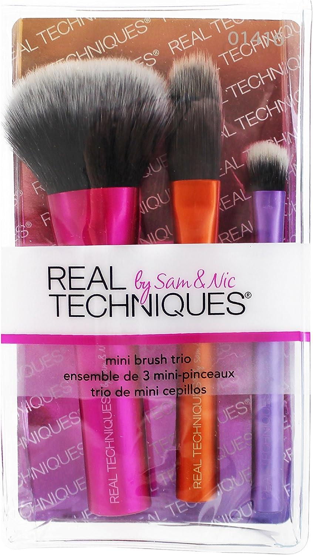 Técnicas real Pinceles de maquillaje Colección viaje Mini 3 Habitaciones: Amazon.es: Belleza