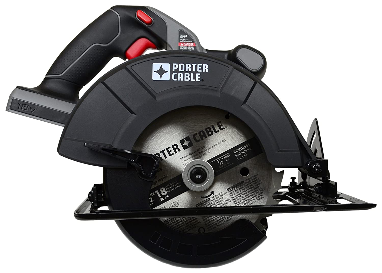 Porter cable pc186cs 18 volt cordless 6 12 inch circular saw bare porter cable pc186cs 18 volt cordless 6 12 inch circular saw bare tool tool only no battery power circular saws amazon greentooth Choice Image