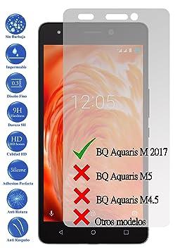 Todotumovil Protector de Pantalla Cristal Templado Vidrio Premium para BQ Aquaris M 2017 5.5