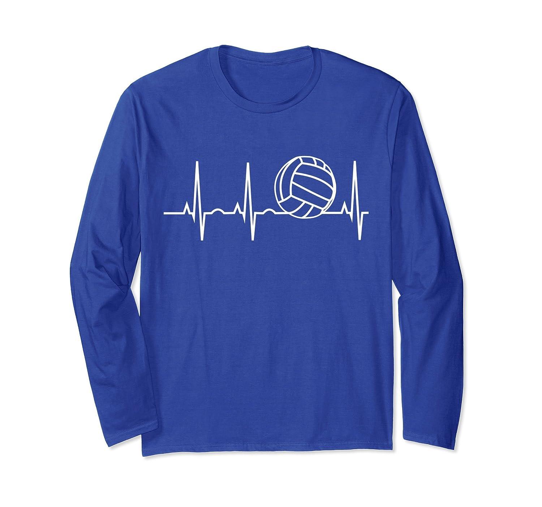 Volleyball Heartbeat Shirt I Love Volleyball Long Sleeve Tee-fa