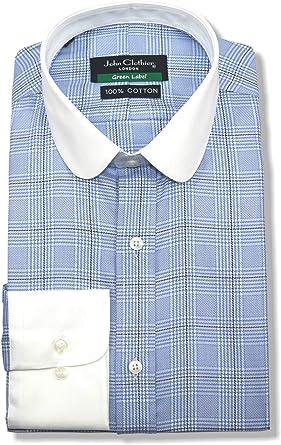 Penny Club Collar Peaky Blinders - Camisa para Hombre, diseño de Cuadros, Color Azul Azul Azul 15.5: Amazon.es: Ropa y accesorios