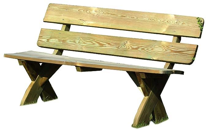 Amazon.de: Gartenpirat Rustikale Gartenbank 3-Sitzer aus Holz massiv ...