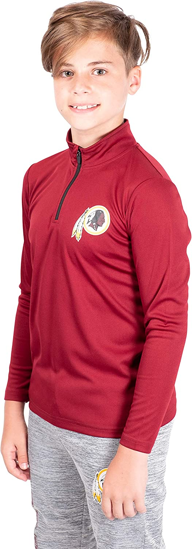 Ultra Game NFL Boy/'s Quarter-Zip Active Pullover Shirt