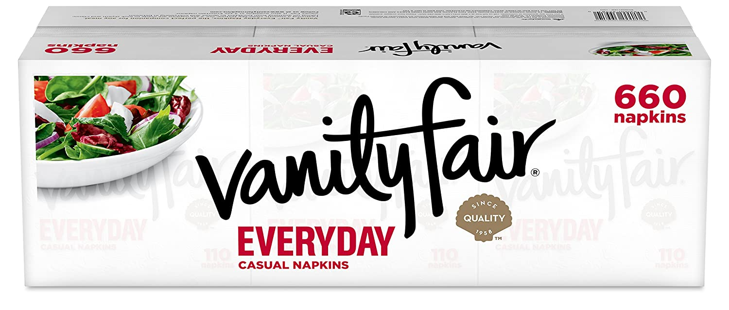 Vanity Fair Everyday Napkins, White, 660 Count by Vanity Fair