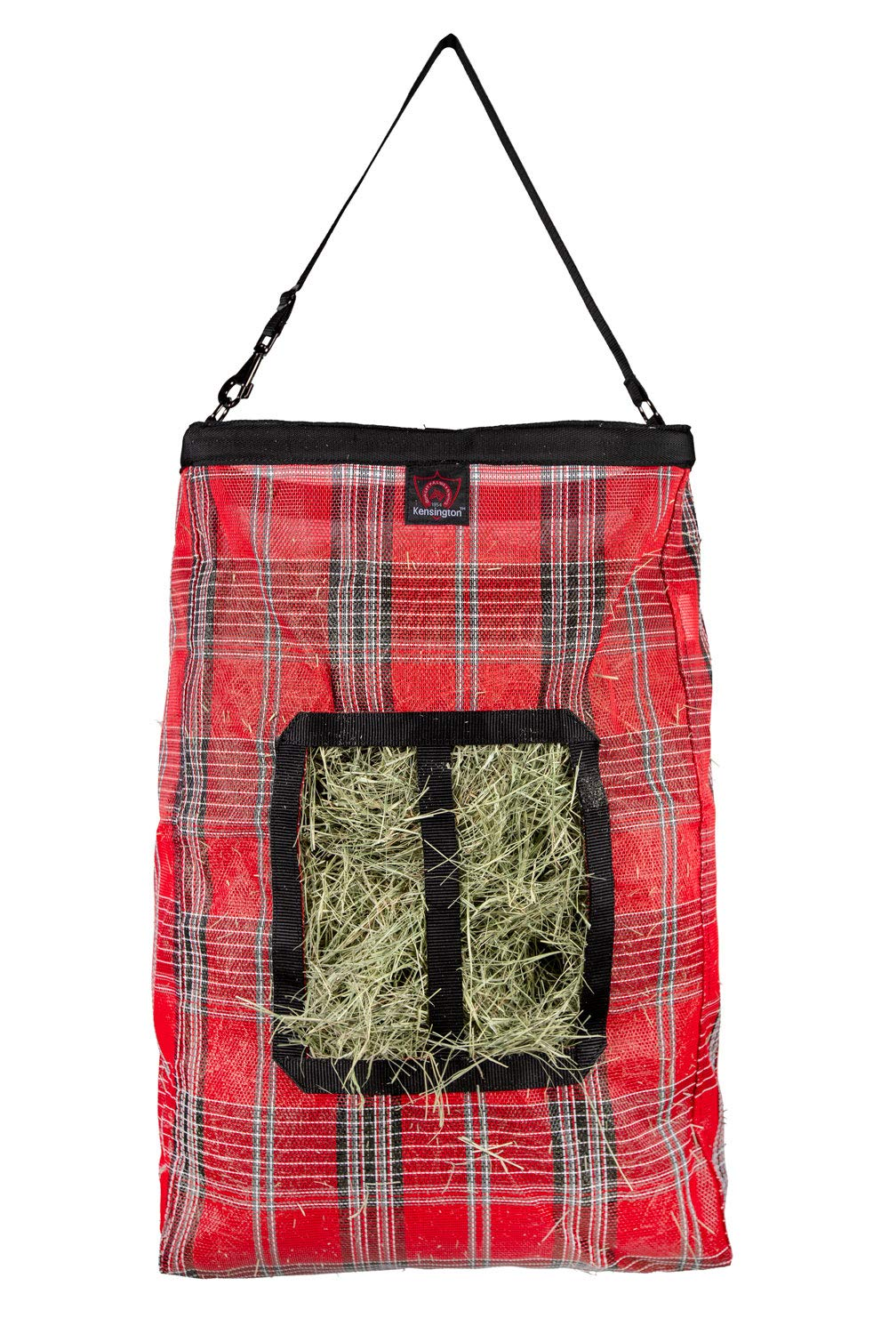 Kensington Hay Bag with Wire Rim - Sturdy Plastic Band Makes Loading Hay a Breeze - Holds Up to 2 Flake's by Kensington Protective Products