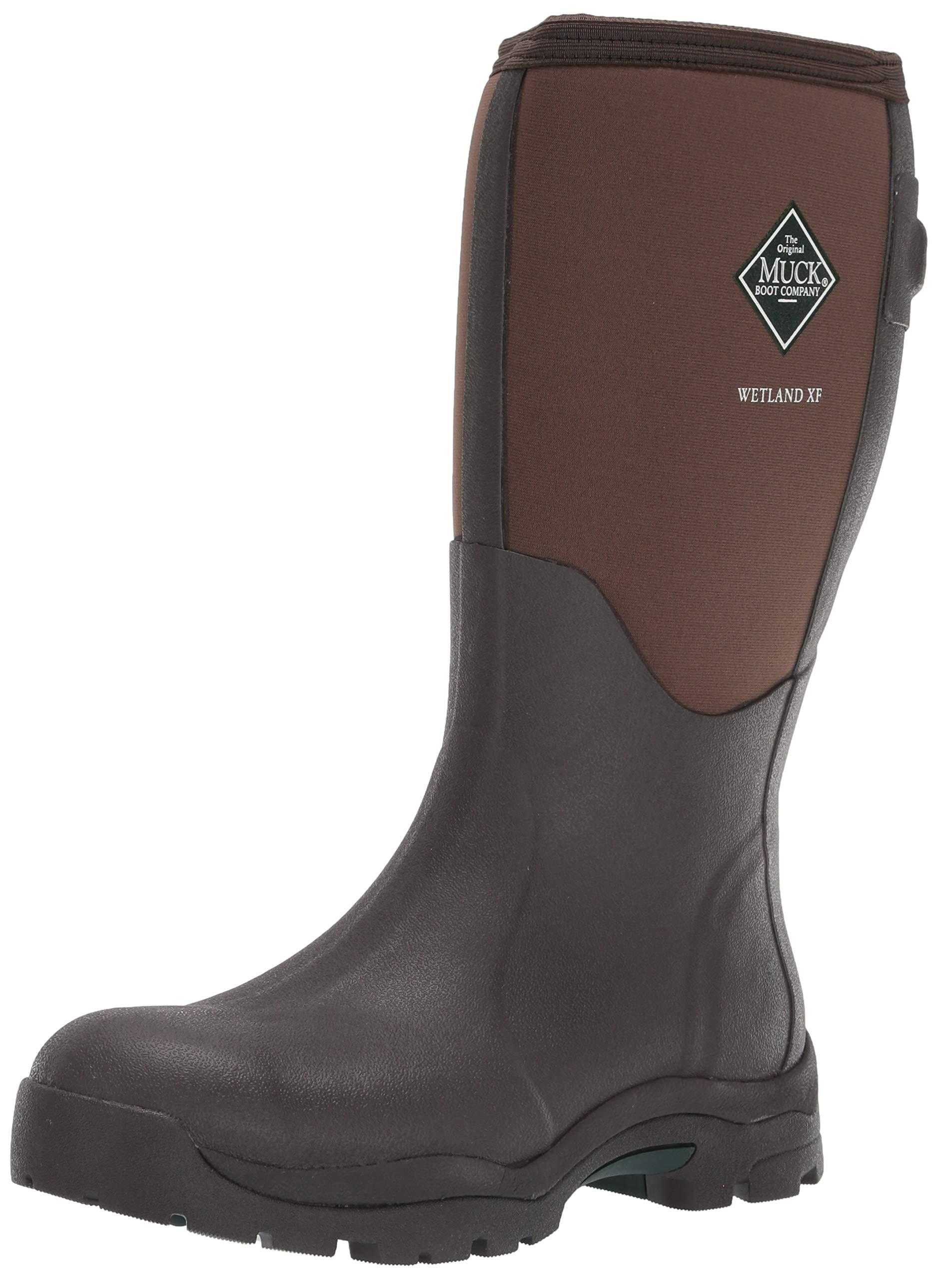 Muck Boot Women's Wetland Wide Calf Snow Boot, Brown, 10 Medium Shaft US by Muck Boot