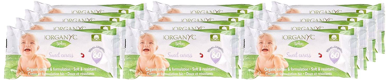 12 x 60 St/ück Organyc Feuchte Babyt/ücher aus 100/% biologischer Baumwolle 12er Pack