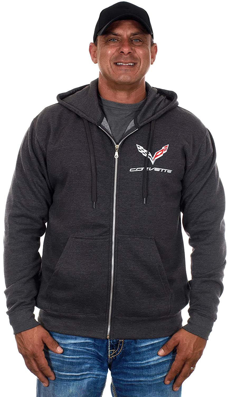 JH DESIGN GROUP Men/'s Chevy Corvette Hoodies-Pullover /& Zip Up Sweatshirts in 6 Styles COR9P3BSC6