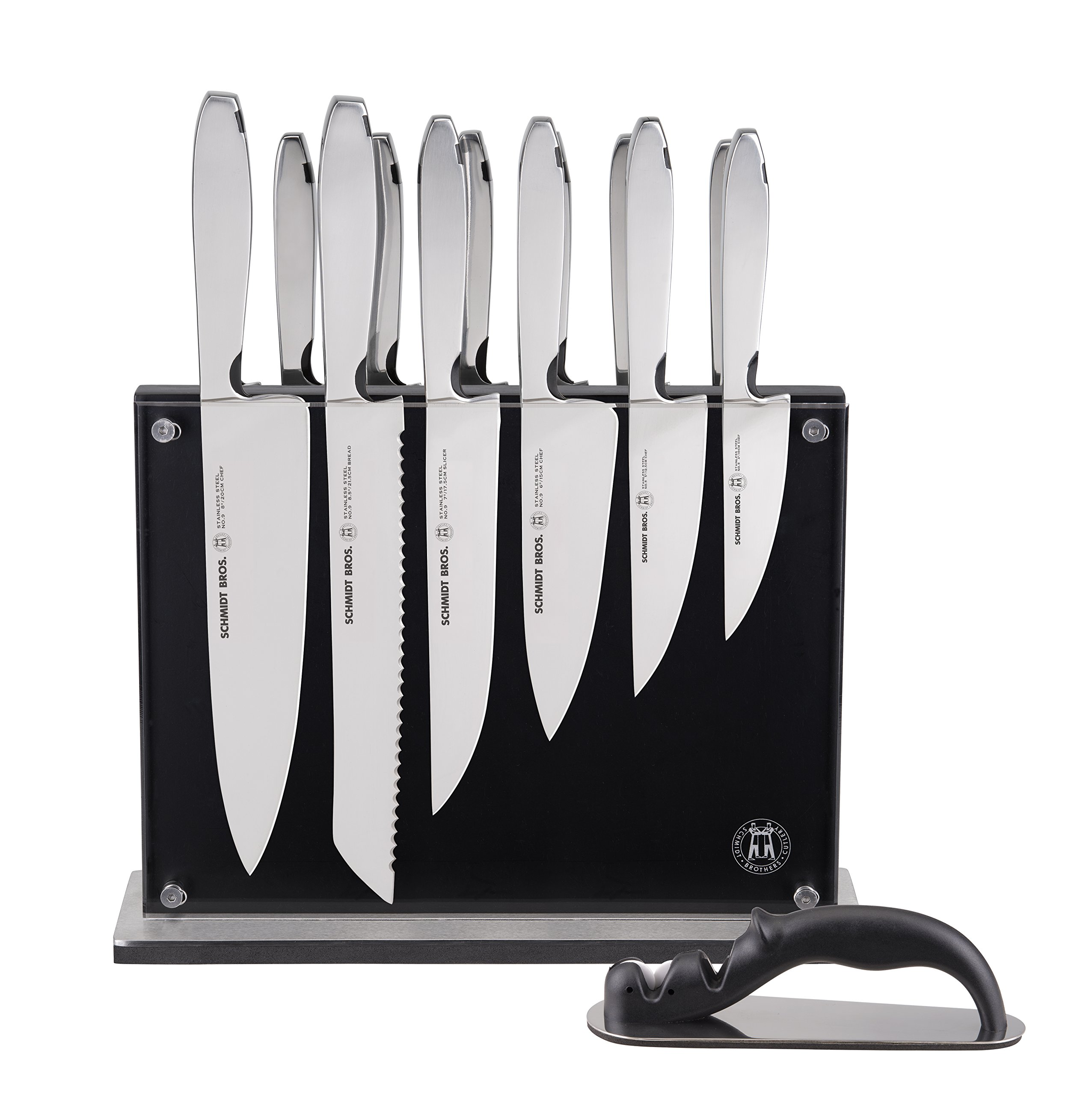 Hudson Home Schmidt Brothers Cutlery,  SSCST15, #9 Steel Cut , 15pc set, Stainless Steel