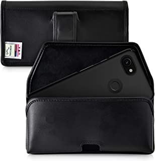 product image for Turtleback Holster Designed for Google Pixel 3 XL and Pixel 3A XL (2019) Belt Case Black Leather Pouch with Executive Belt Clip, Horizontal Made in USA