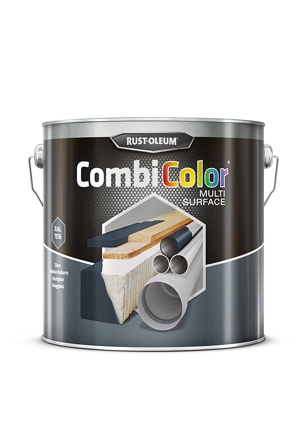 RUST-OLEUM 7389MS.2.5 COMBICOLOR metal protection, direct to rust, Anthracite grey