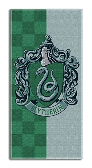 "Harry Potter crestas casa Toalla de Playa de 30"" x 60""- Slytherin"