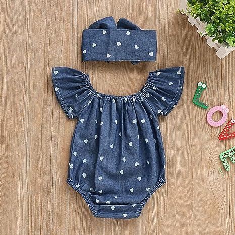 Wang-RX Infante del niño recién Nacido bebé niña Ropa Verano ...
