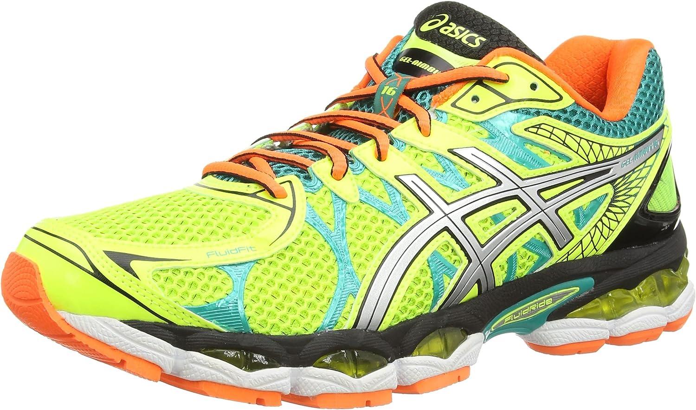 ASICS Gel-Nimbus 16, Zapatillas de Running para Hombre, Amarillo (Flash Yellow/Silver/Emerald Green 793), 51.5 EU: Amazon.es: Zapatos y complementos