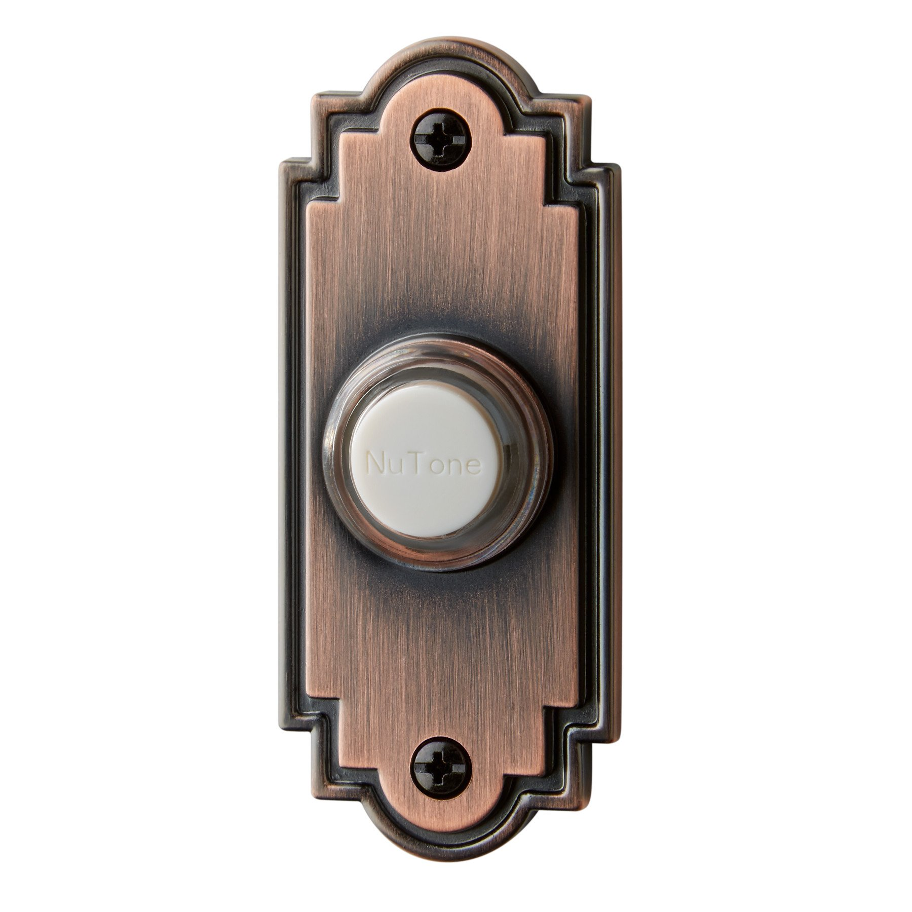 NuTone PB15LBR Wired Lighted Door Chime Push Button, Oil-Rubbed Bronze