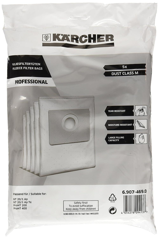 Kä rcher 6.907-469.0 - Bolsas de filtro de fieltro para aspiradoras Kärcher